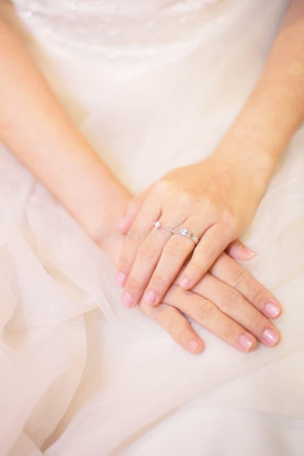 穿礼服现有量环形婚礼 免版税库存图片