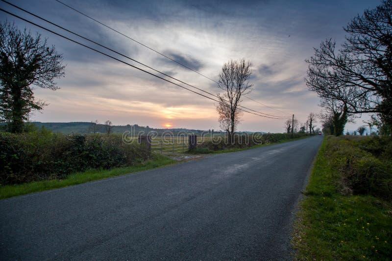穿越爱尔兰的路 库存照片