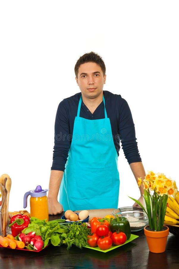 突出厨房的人新 图库摄影