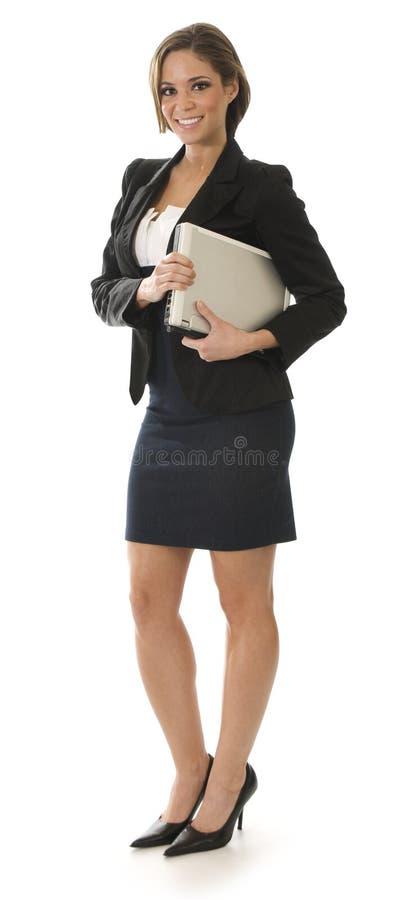 突出的女实业家空白 免版税库存图片