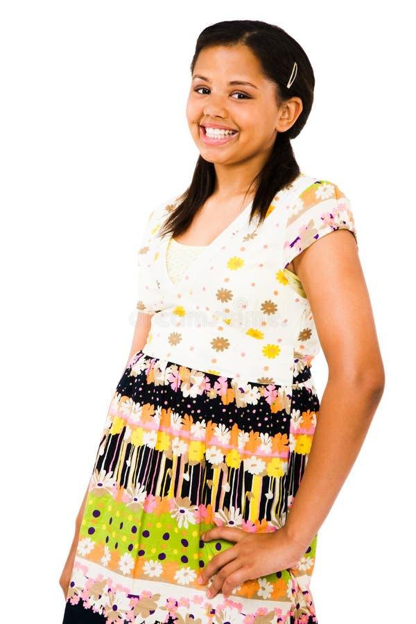 突出非洲裔美国人的女孩少年 图库摄影