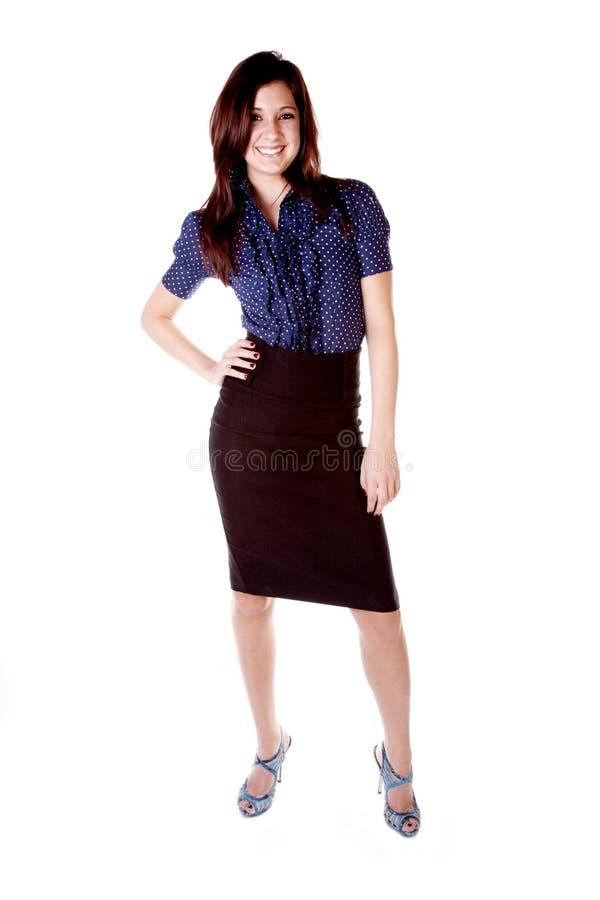 突出顶部妇女的蓝色鞋子 免版税库存照片