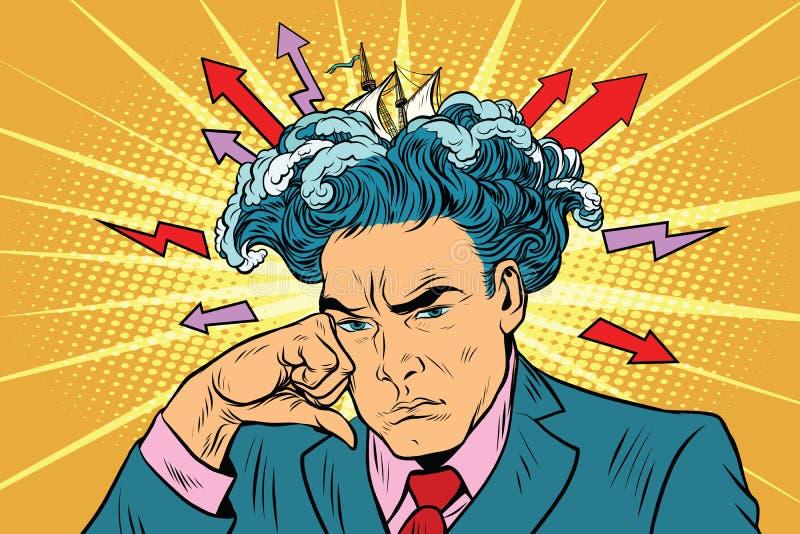 突发的灵感人认为 向量例证