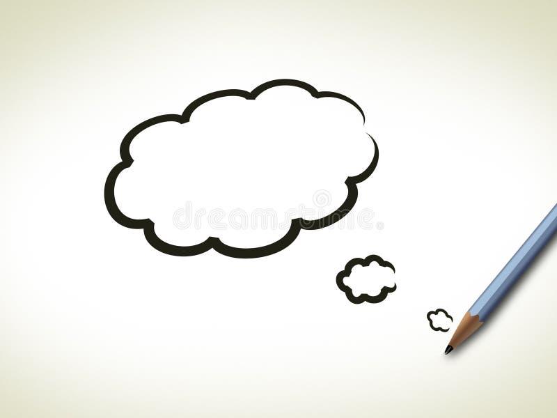 突发的灵感画笔概念冲程 向量例证
