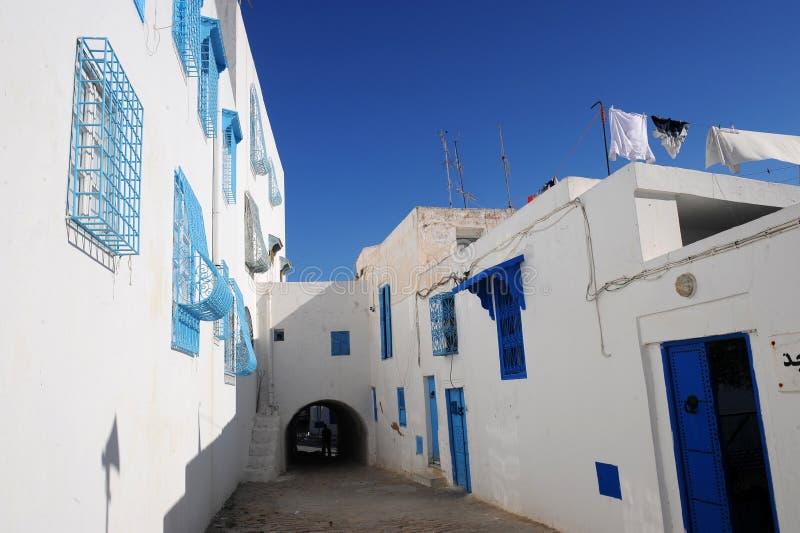 突尼斯。西迪布赛义德 免版税库存照片