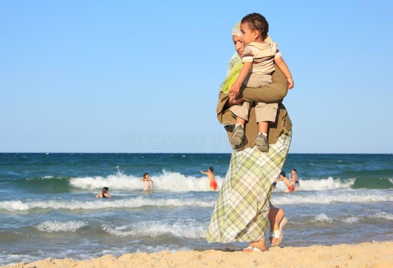突尼斯人民和地中海 图库摄影