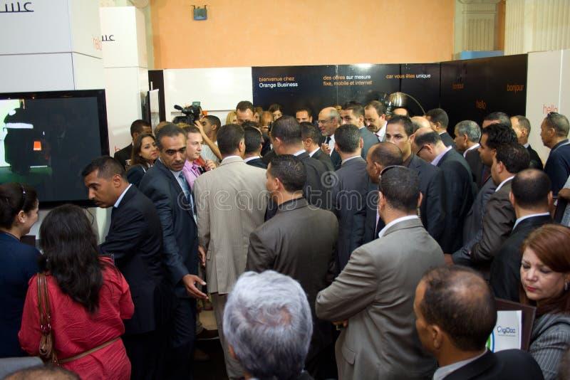 突尼斯总理空缺数目ICT4ALL 免版税库存照片