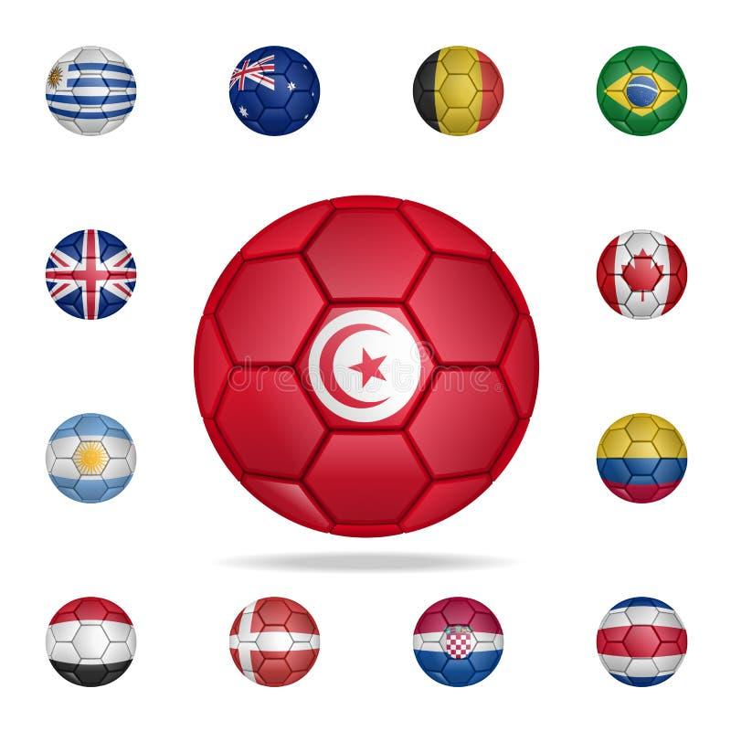 突尼斯的全国橄榄球球 详细的套全国足球 优质图形设计 其中一个汇集象为 皇族释放例证