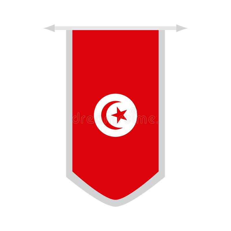 突尼斯的旗子横幅的 皇族释放例证