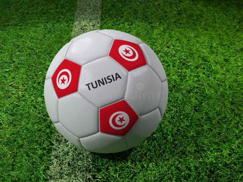突尼斯足球 向量例证