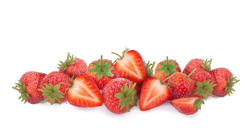 突显背景中的鲜草莓 库存图片