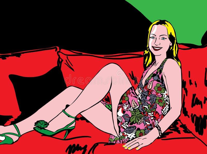 Download 妇女例证 库存例证. 插画 包括有 beautifuler, 逗人喜爱, 想象力, 方式, 图象, 梦想 - 30328726
