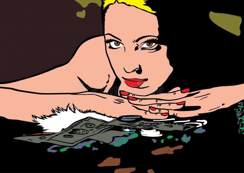 Download 有金钱例证的妇女 库存例证. 插画 包括有 唇膏, 当代, 有吸引力的, 夫妇, 吸气器, 例证, 女性 - 30329015