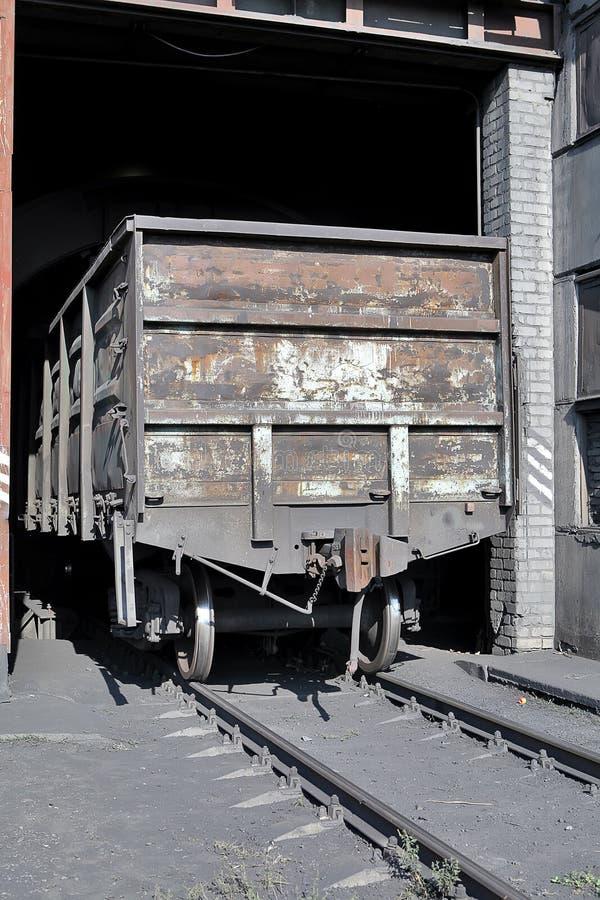 突然行动(打翻)无盖货车(有时两)和sp的设施 免版税库存图片