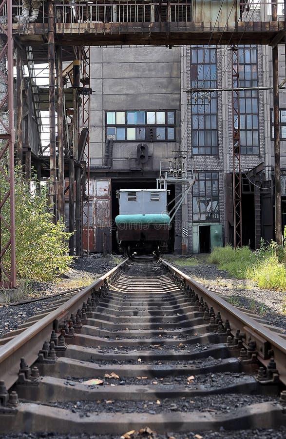 突然行动(打翻)无盖货车(有时两)和sp的设施 库存照片