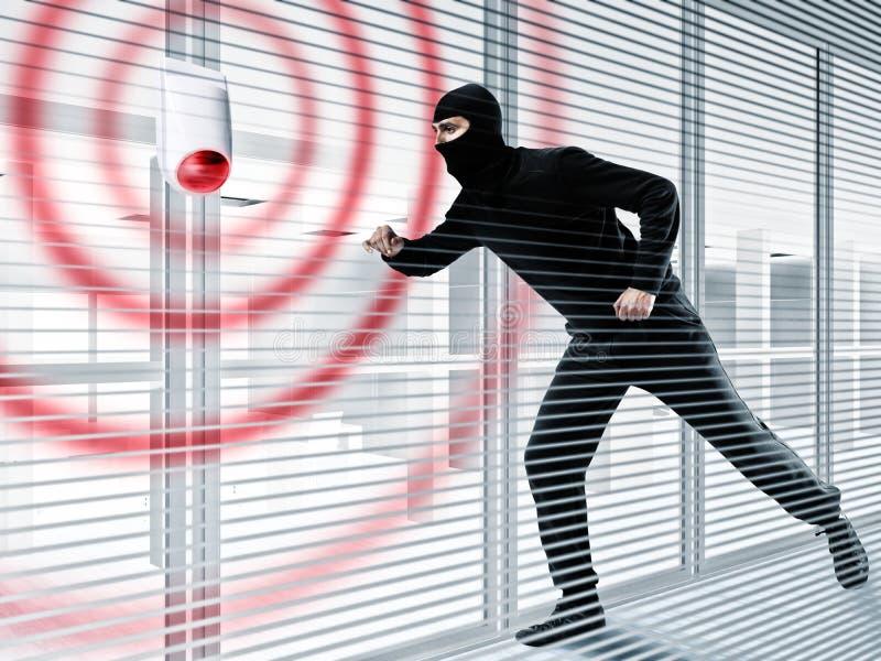 窃取的窃贼警报 免版税库存图片