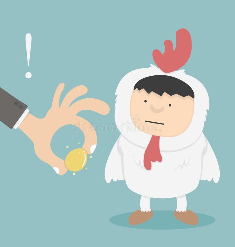 窃取金黄鸡蛋的商人 皇族释放例证