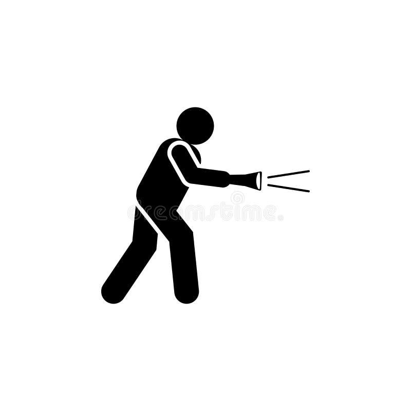 窃取,窃贼,火炬象 消极性格特征象的元素 r 标志和 库存例证