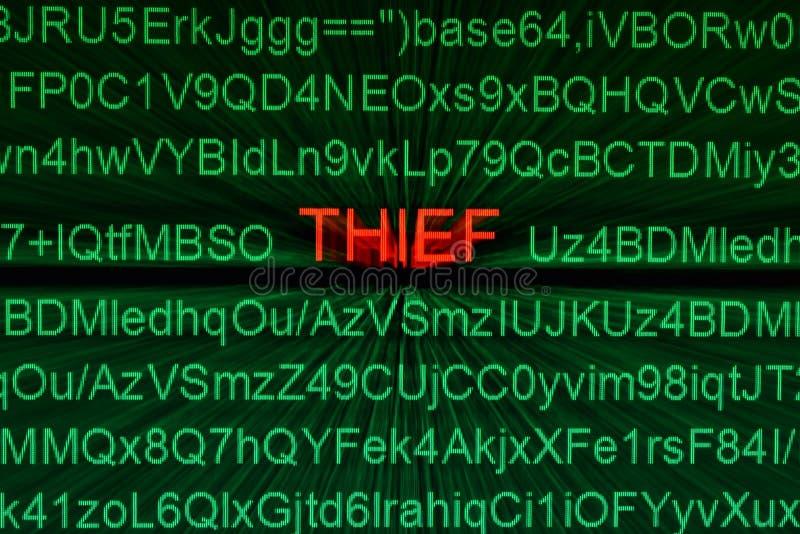 窃贼在线概念 库存图片