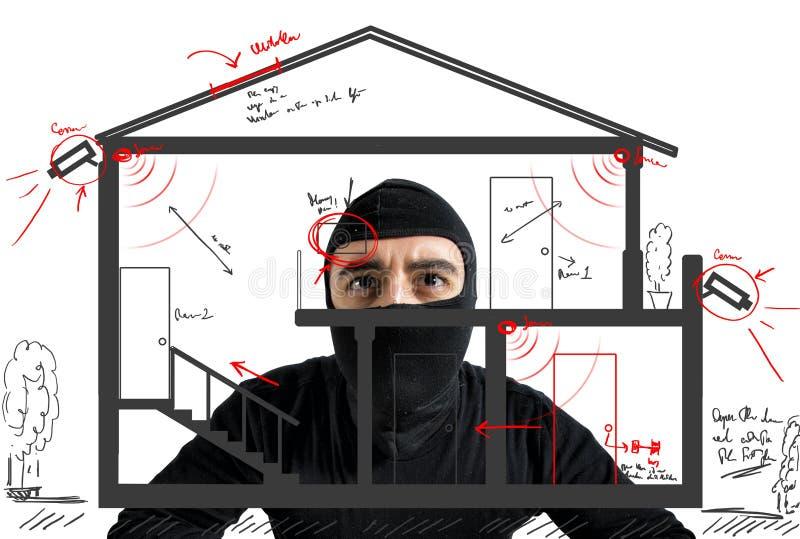 窃贼公寓 免版税图库摄影