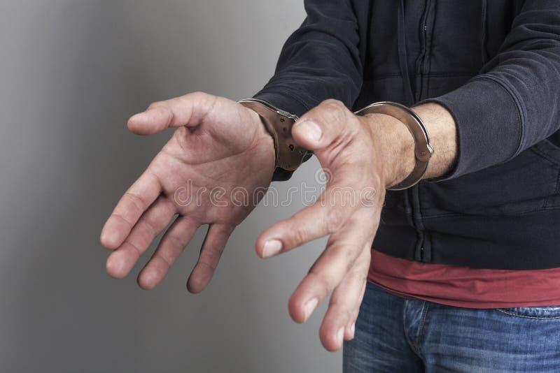 窃贼被拘捕 库存图片