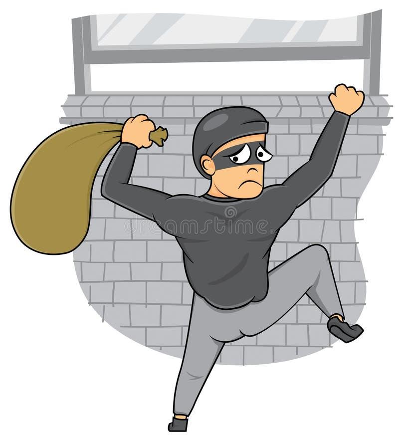 窃贼被捉住 库存例证