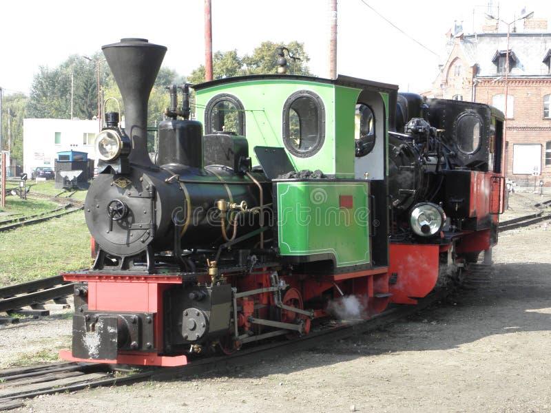 窄片蒸汽铁路火车 库存照片