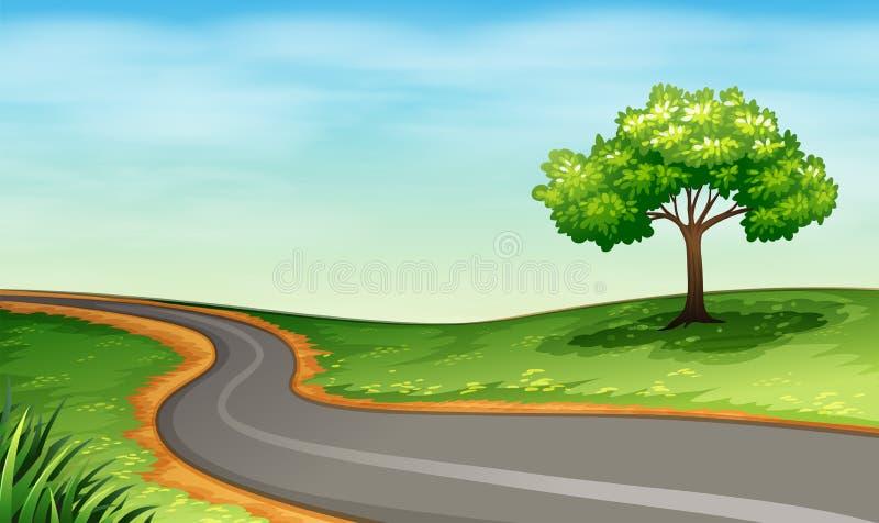 窄路 向量例证