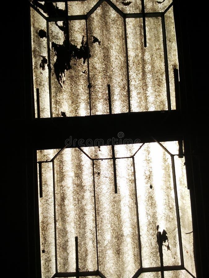 窗口剪影 免版税库存照片