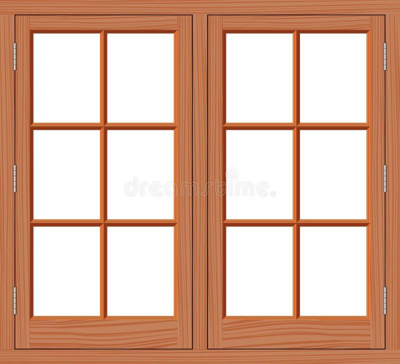 窗口木头 皇族释放例证