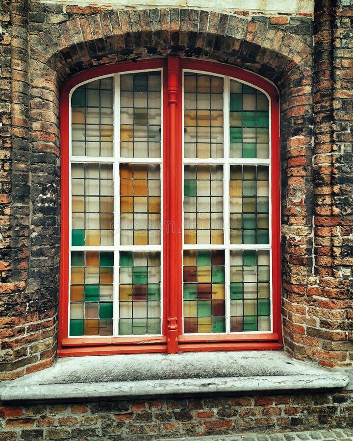 窗口比利时, 免版税库存照片