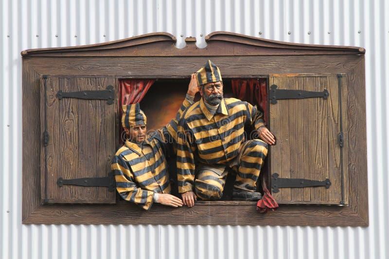 窗口的囚犯 免版税库存图片