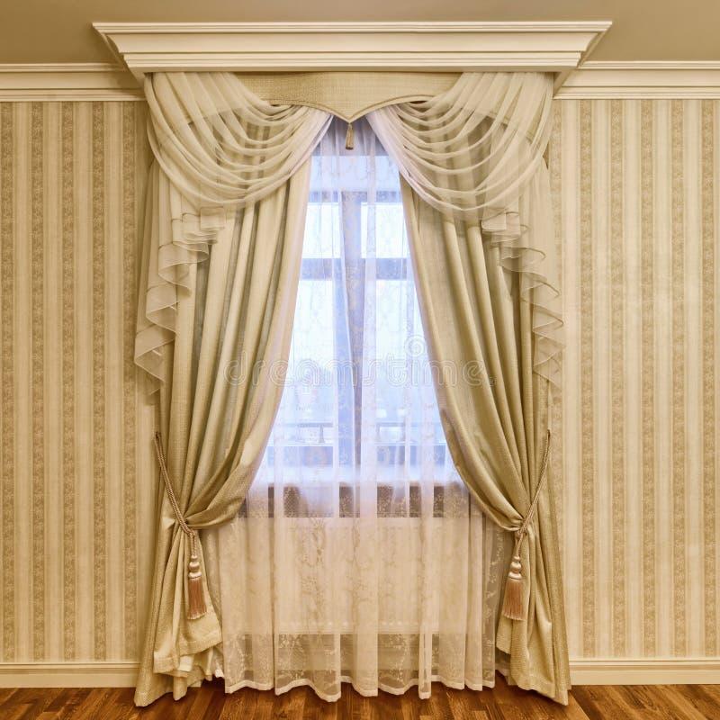 窗口装饰帷幕 库存图片