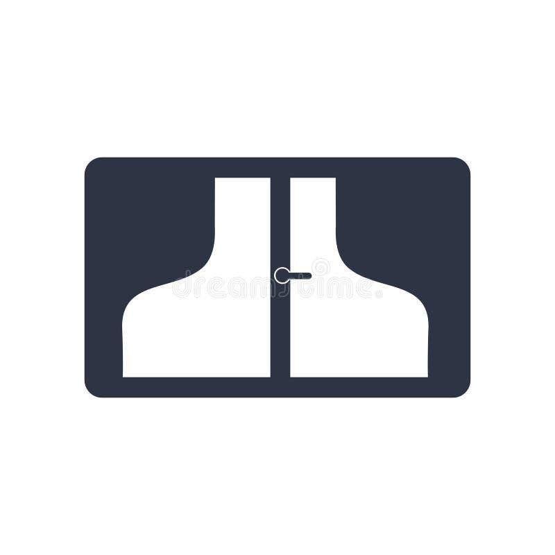 窗口象在白色背景和标志隔绝的传染媒介标志,窗口商标概念 向量例证