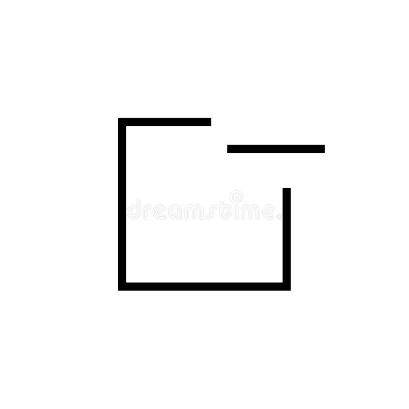窗口象在白色背景和标志隔绝的传染媒介标志,窗口商标概念 皇族释放例证