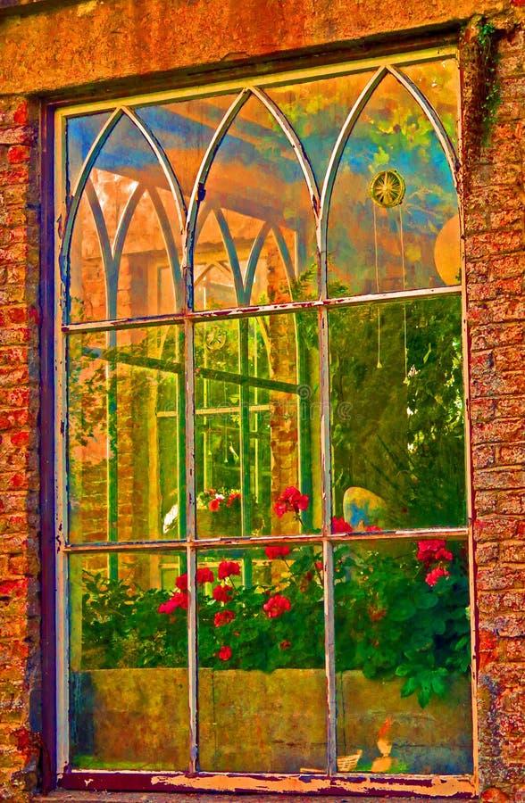 窗口,亨廷顿城堡, Co 卡洛,爱尔兰 免版税图库摄影