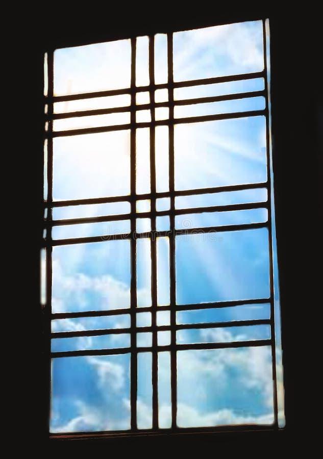 窗口,对世界的方式 库存图片