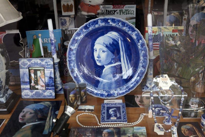 窗口购物在荷兰 库存照片