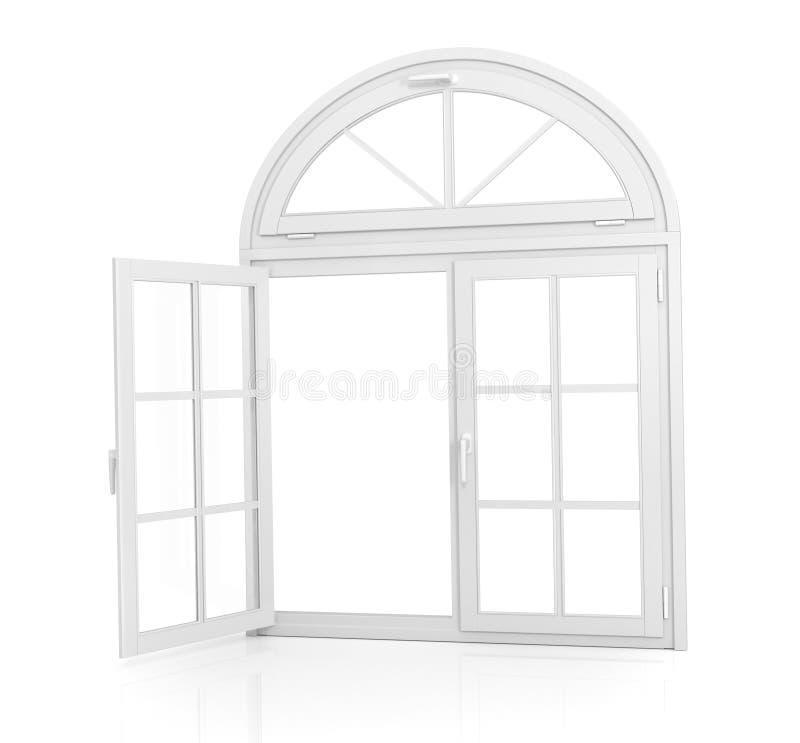窗口 Open成拱形窗口 皇族释放例证