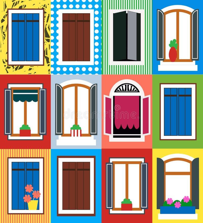窗口Infographic设计商店的,站点和其他设计 EPS 10向量文件 库存例证