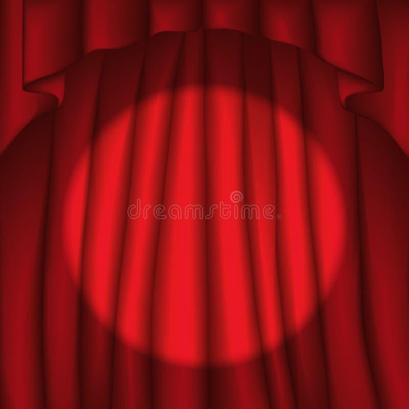 窗帘向量 向量例证