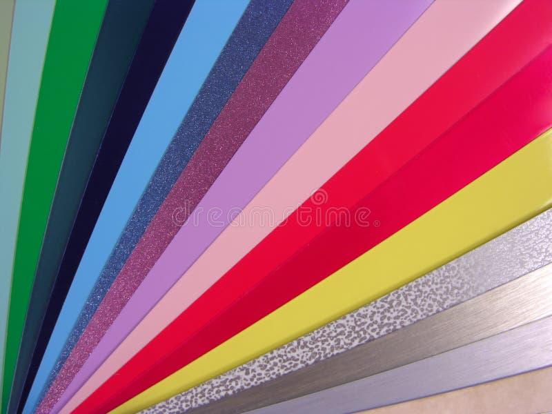 窗帘威尼斯式图表的颜色 库存照片