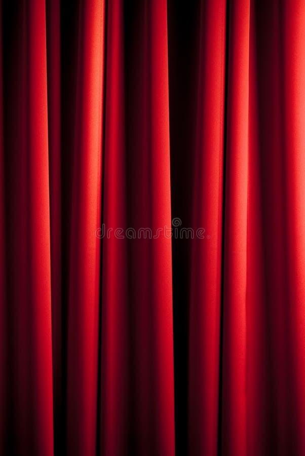 窗帘模式红色 免版税图库摄影