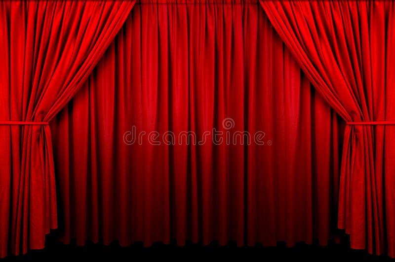 窗帘活动 免版税图库摄影