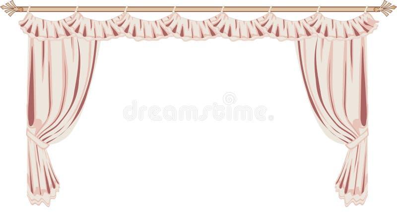 窗帘粉红色 库存例证