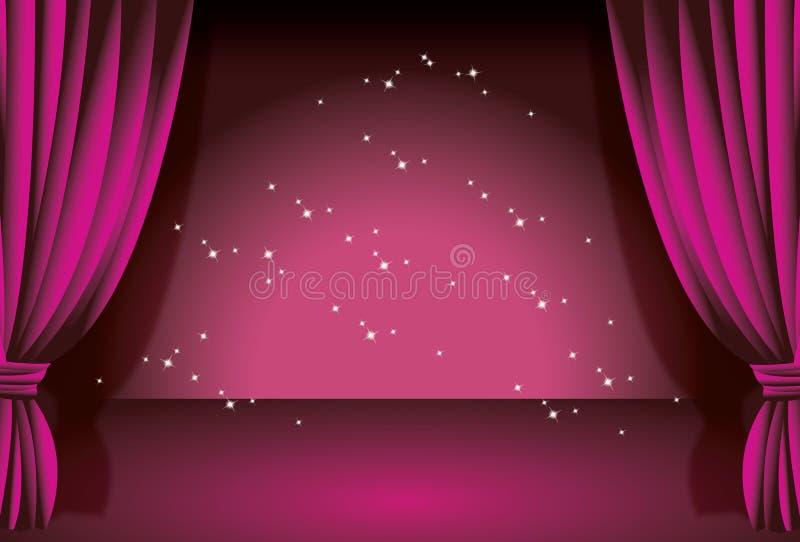 窗帘紫色 库存照片