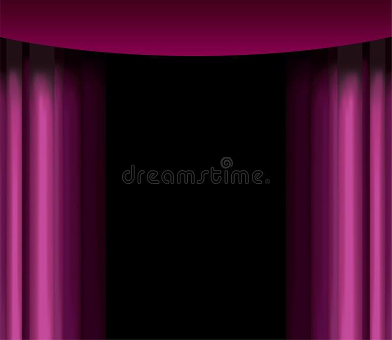窗帘紫色 库存例证
