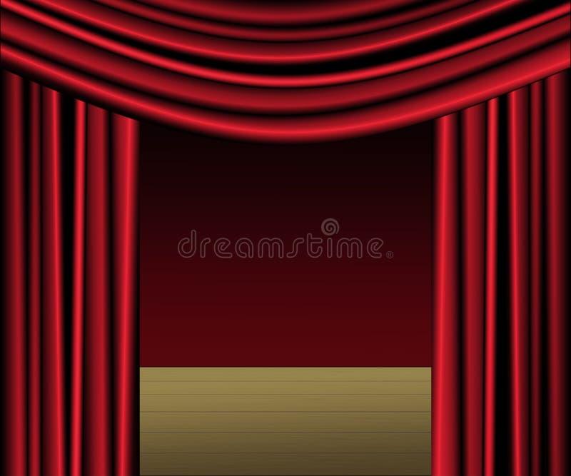 窗帘红色阶段 皇族释放例证