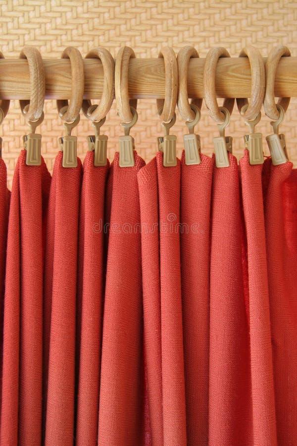 窗帘红色 图库摄影