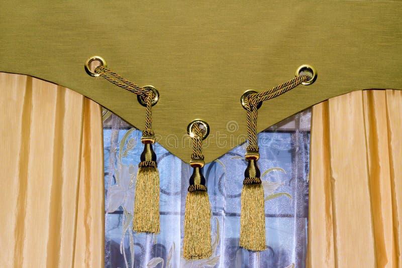窗帘视窗 图库摄影